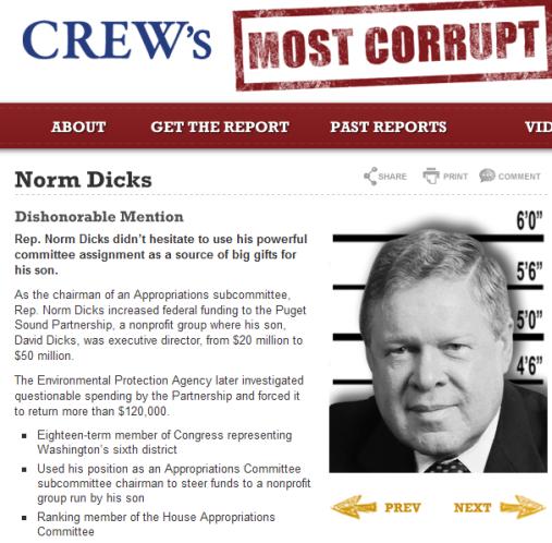 Norm Dicks - CREW's Most Corrupt Members of Congress 2014-08-21 17-11-25