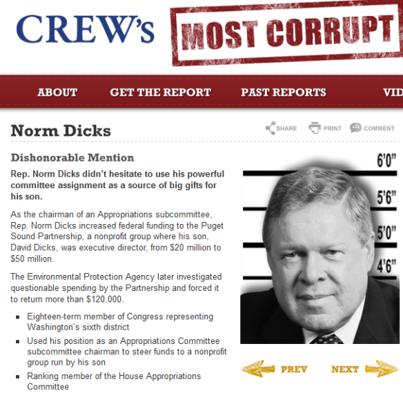 Norm Dicks - CREW's Most Corrupt Members of Congress 2014-08-21 17-11-25