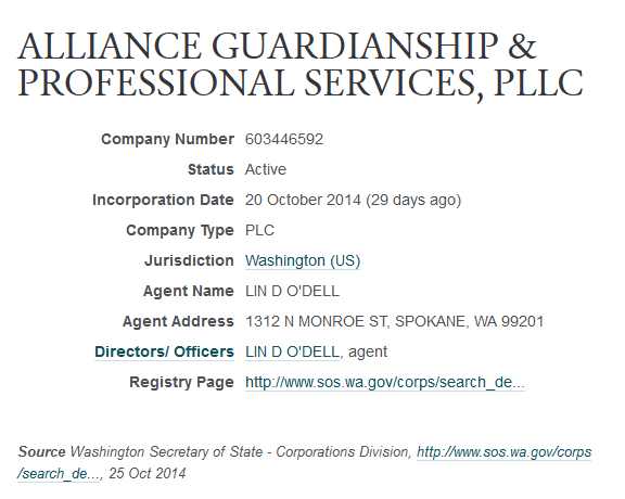 ALLIANCE GUARDIANSHIP & PROFESSIONAL SERVICES, PLLC -- OpenCorporates 2014-11-17 22-35-27