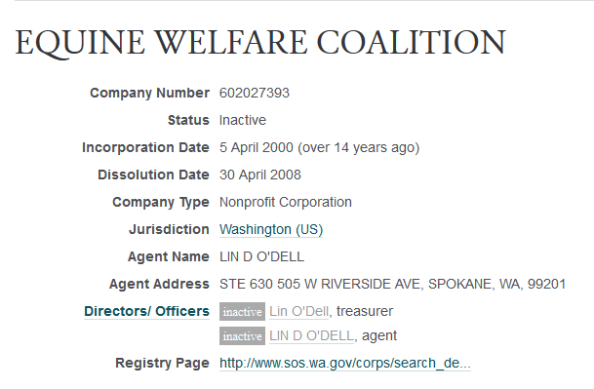 EQUINE WELFARE COALITION -- OpenCorporates 2014-11-17 22-36-20